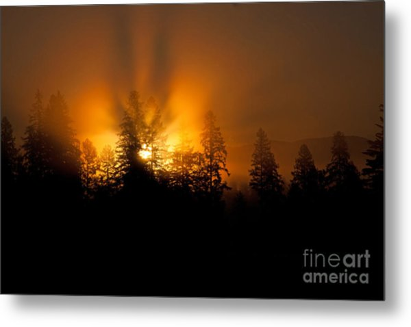 Fire And Fog Metal Print