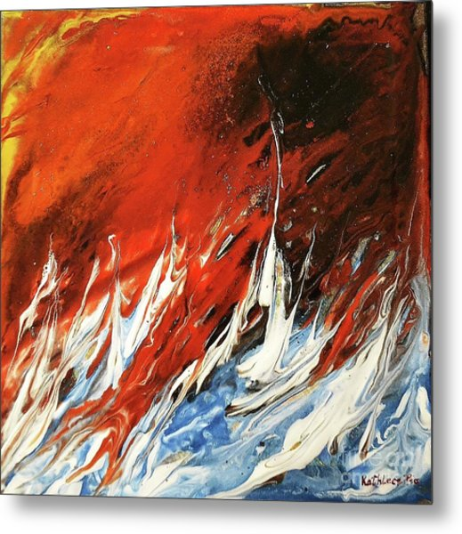 Fire And Lava Metal Print