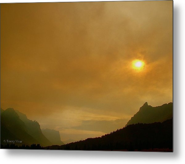 Fire And Sun Metal Print