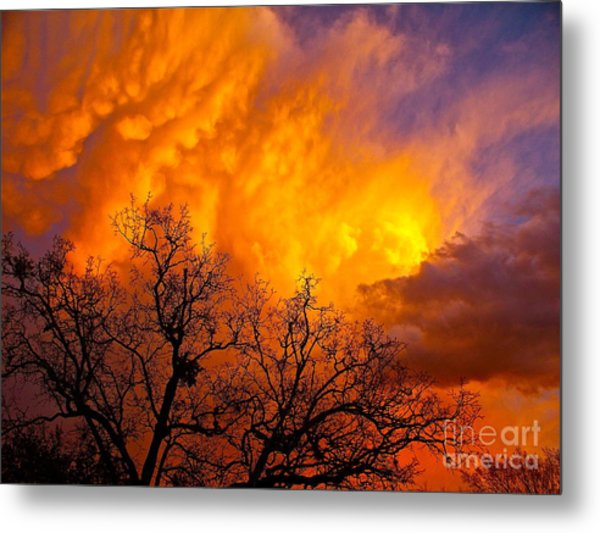 Fire And Water In The Sky Metal Print by Chuck Taylor