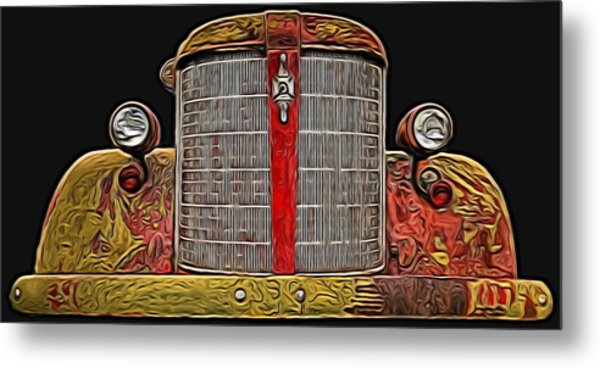 Fire Engine Red Metal Print
