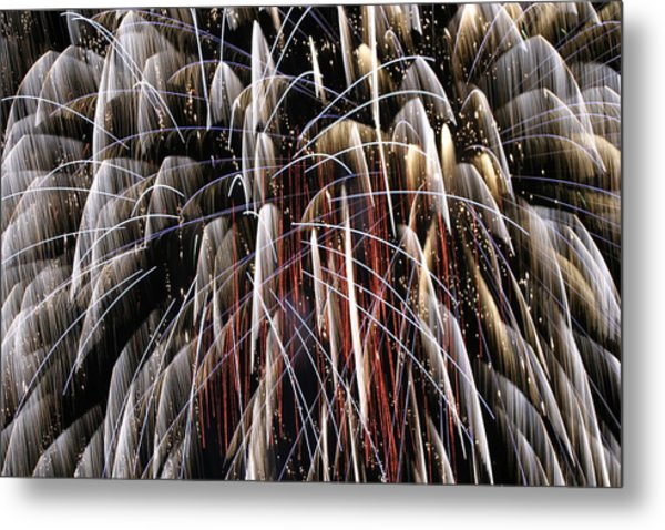 Fire Fountain Metal Print