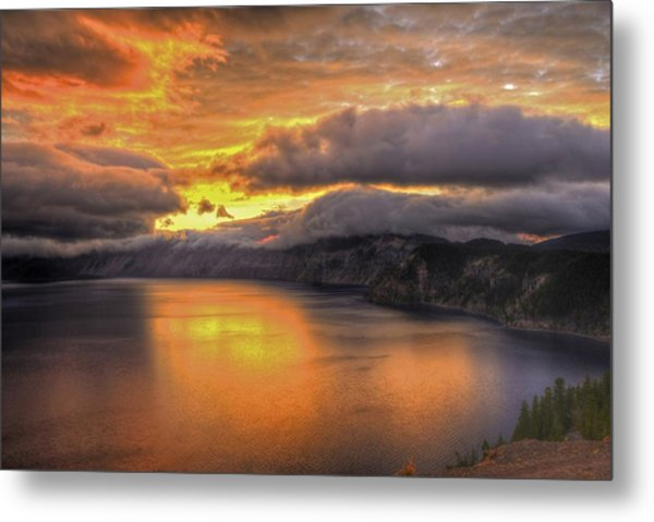Fire In The Lake #1 Metal Print