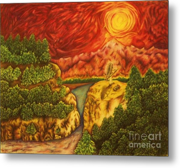 Fire In The Sky Metal Print by Jamey Balester