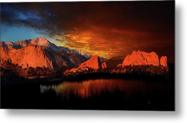 Fire In The Sky Metal Print by John Hoffman