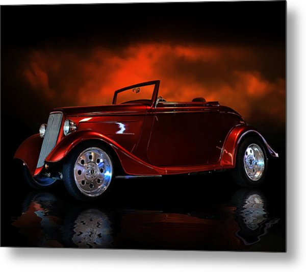 Fire Is The Lightning Metal Print by Rat Rod Studios