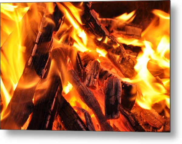 Fire Metal Print by Leonard Voicu