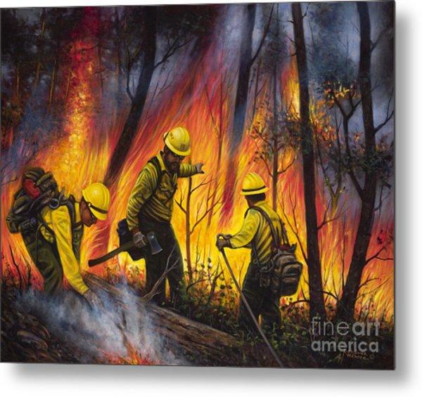 Fire Line 2 Metal Print