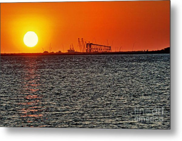 Fire On The Water Metal Print by Ken Williams