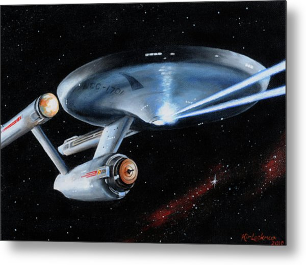Fire Phasers Metal Print