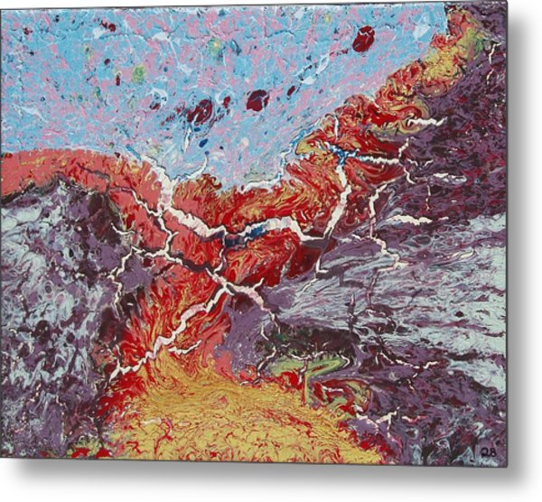 Fire Road Metal Print