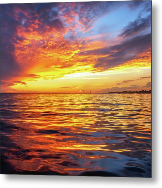 Fire Skies Metal Print by Steve Spiliotopoulos