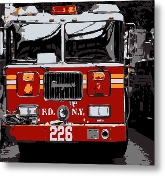 Fire Truck Color 6 Metal Print