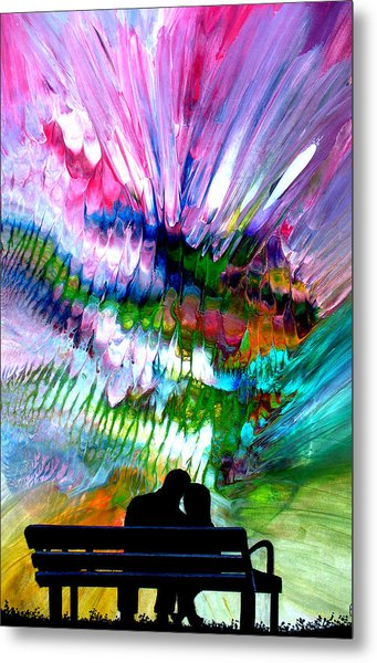 Fire Works In The Park Metal Print