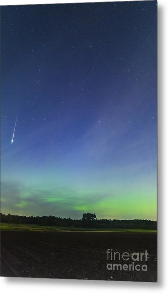 Fireball Two Over The Farm Metal Print