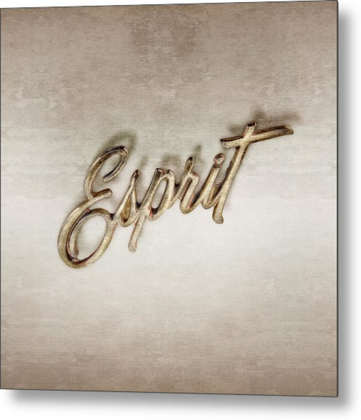 Firebird Esprit Chrome Emblem Metal Print