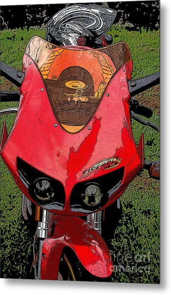 Firebolt Metal Print by Diane E Berry
