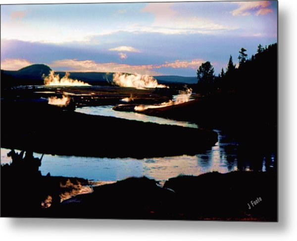 Firehole River 2 Metal Print