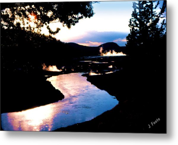 Firehole River Metal Print