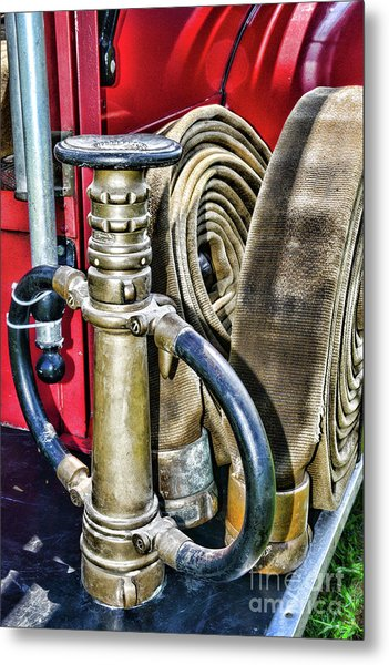 Fireman Its All About The Nozzle Metal Print