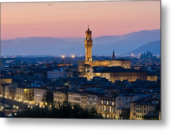 Firenze At Sunset Metal Print