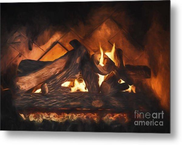 Fireplace  ... Metal Print