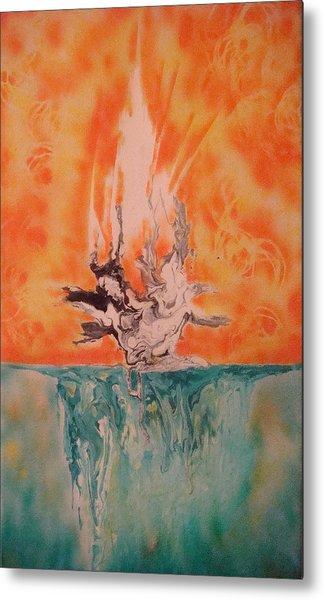 Firewater Metal Print