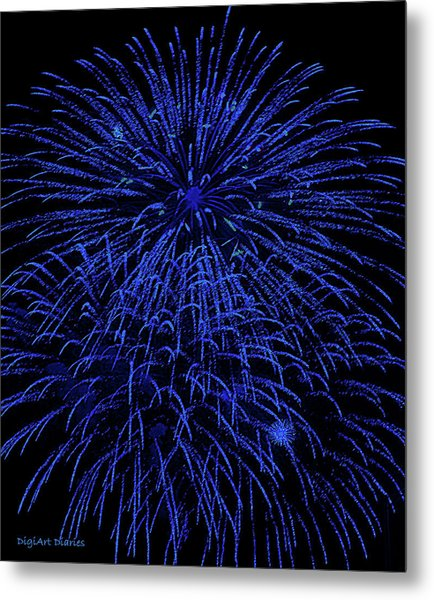Firework Blues Metal Print