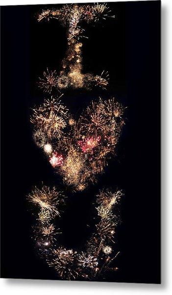 Firework Love Metal Print