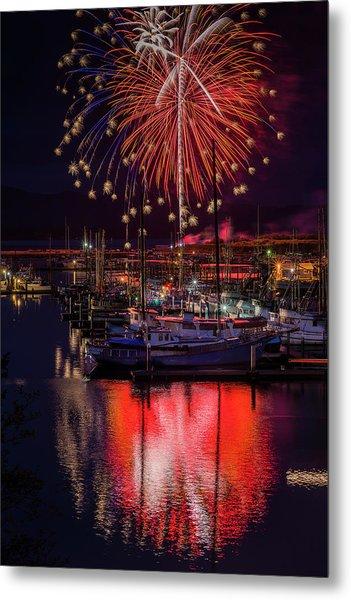 Fireworks At The Docks Metal Print