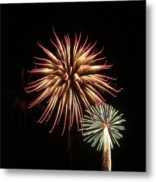 Fireworks From A Boat - 10 Metal Print