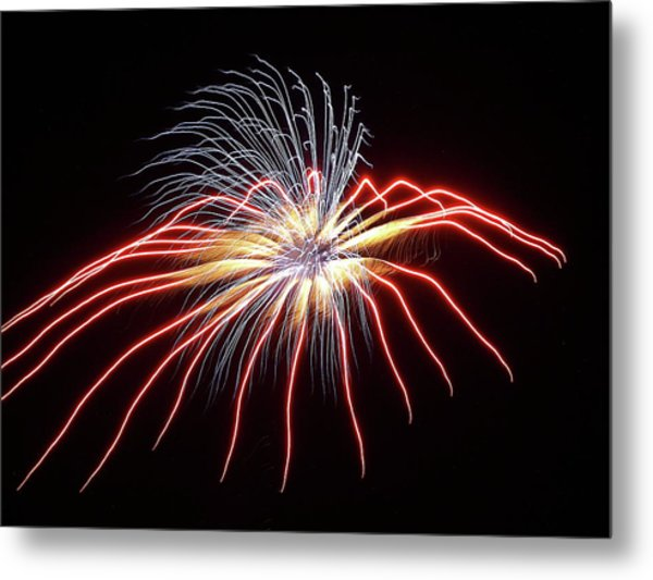Fireworks From A Boat - 11 Metal Print