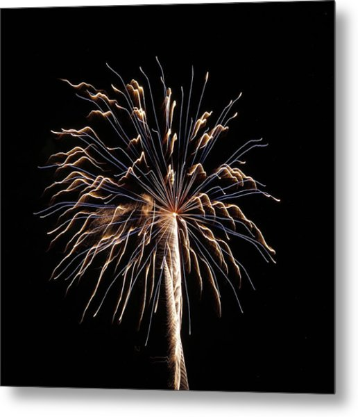 Fireworks From A Boat - 13 Metal Print