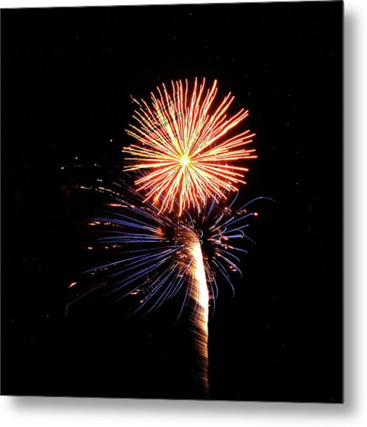 Fireworks From A Boat - 25 Metal Print