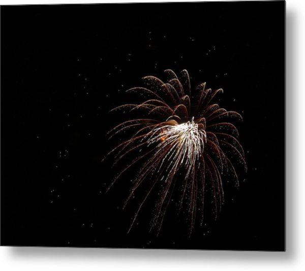 Fireworks From A Boat - 3 Metal Print