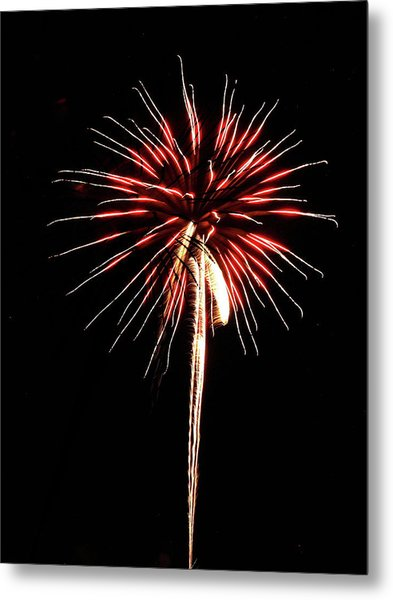 Fireworks From A Boat - 4 Metal Print