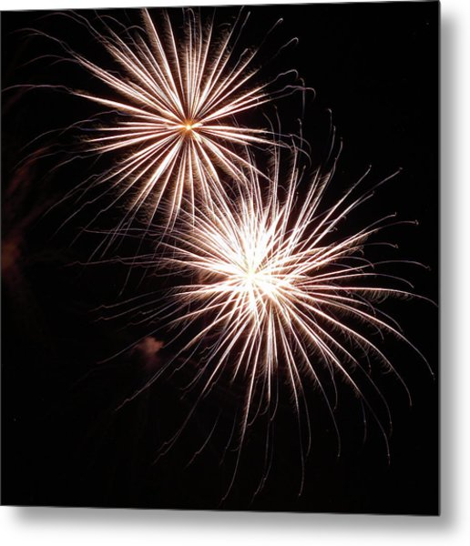 Fireworks From A Boat - 5 Metal Print