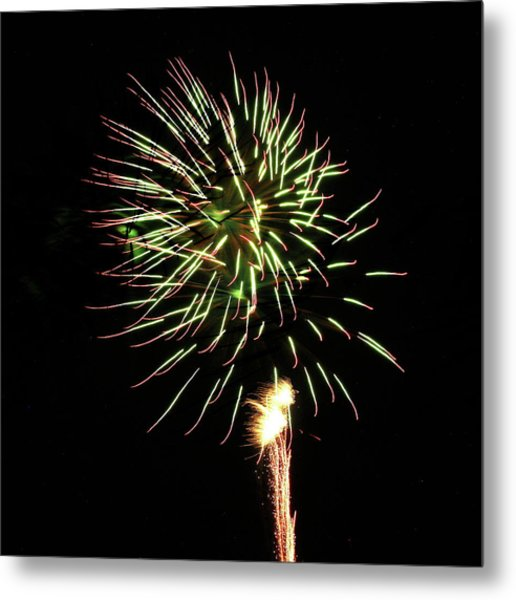 Fireworks From A Boat - 8 Metal Print