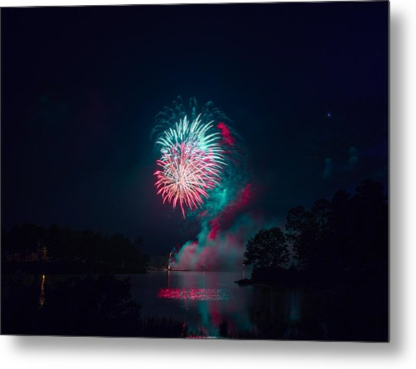 Fireworks In The Country Metal Print