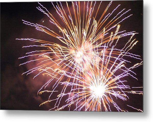 Fireworks In The Park 3 Metal Print