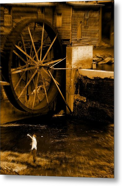 First Catch Metal Print by Jessica Burgett