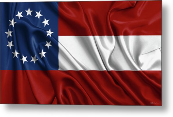 First Flag Of The Confederate States Of America - Stars And Bars 1861-1863 Metal Print