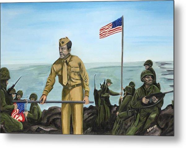 First Flag Raising Iwo Jima Metal Print