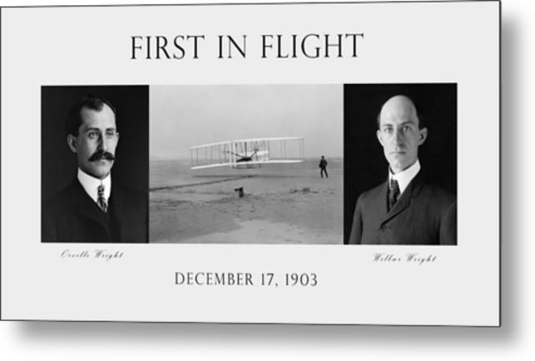 First In Flight - The Wright Brothers Metal Print