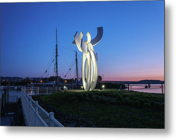 First Light At The Waterfront Metal Print