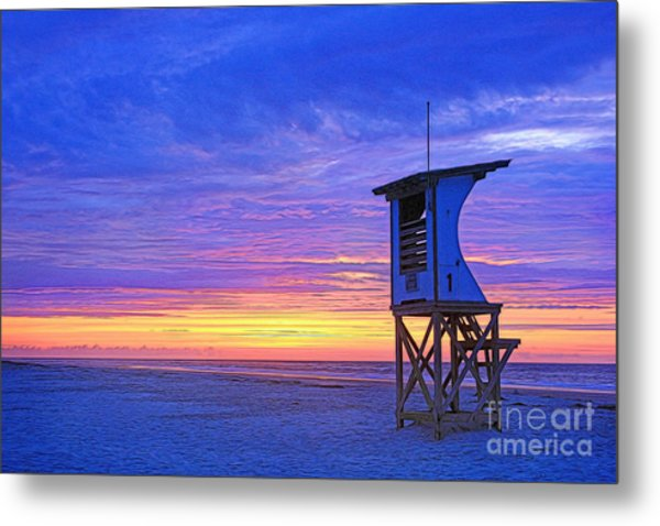 First Light On The Beach Metal Print