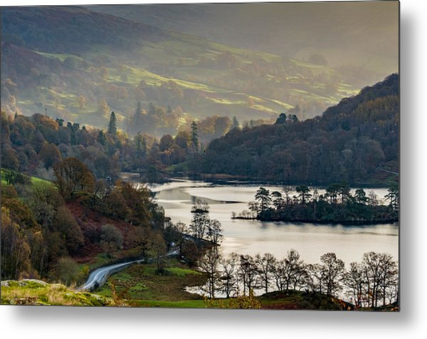 First Light Over Rydal Water In The Lake District Metal Print