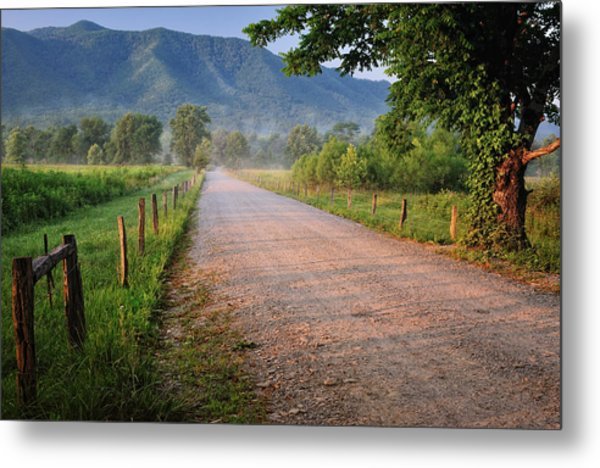 First Light - Sparks Lane At Cades Cove Tennessee Metal Print