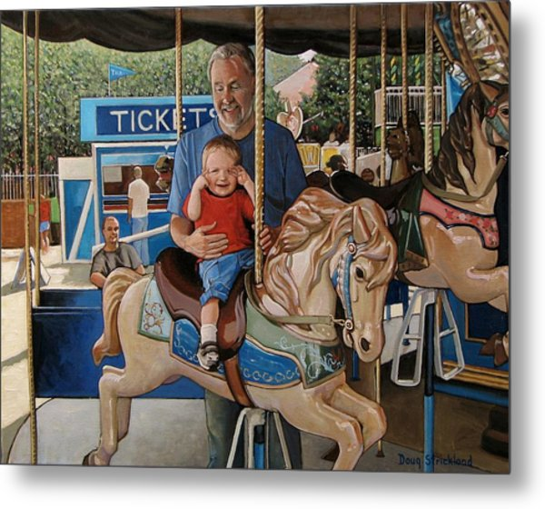 First Ride Metal Print by Doug Strickland