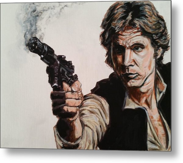 First Shot - Han Solo Metal Print